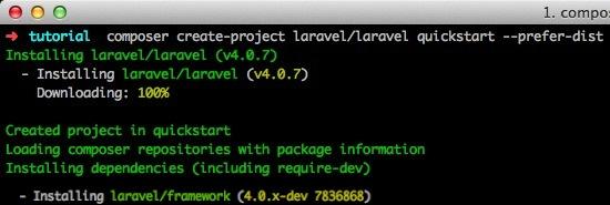 ติดตั้ง Laravel PHP Framework ด้วย Composer