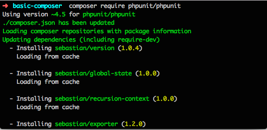 Composer install PHPUnit